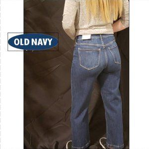 Old Navy, High-Waisted Dark-Wash Wide-Leg Jeans